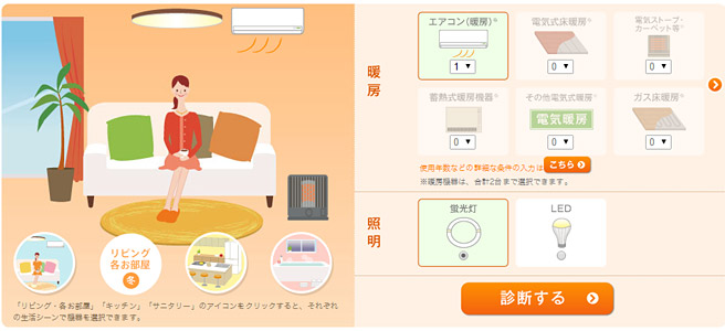 電気の節約術など知ることが出来る「でんき家計簿」の登録で200Tポイント