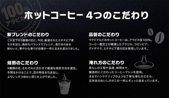 マクドナルドのプレムアムコーヒー
